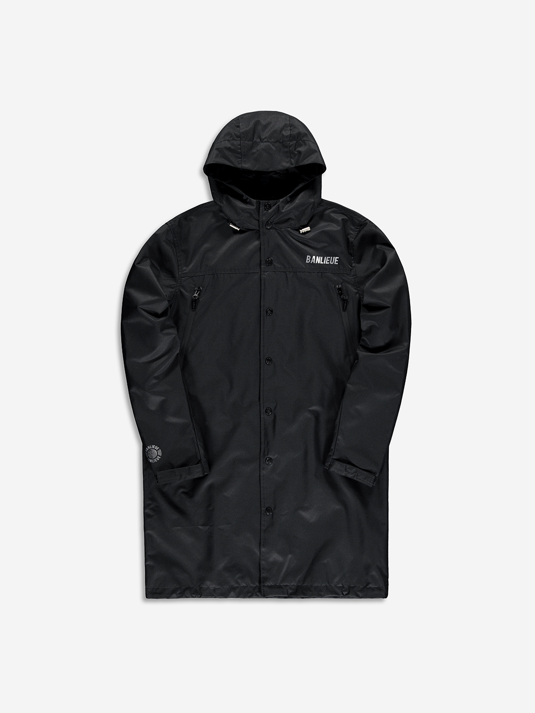 TECHNICAL RAINCOAT BLACK
