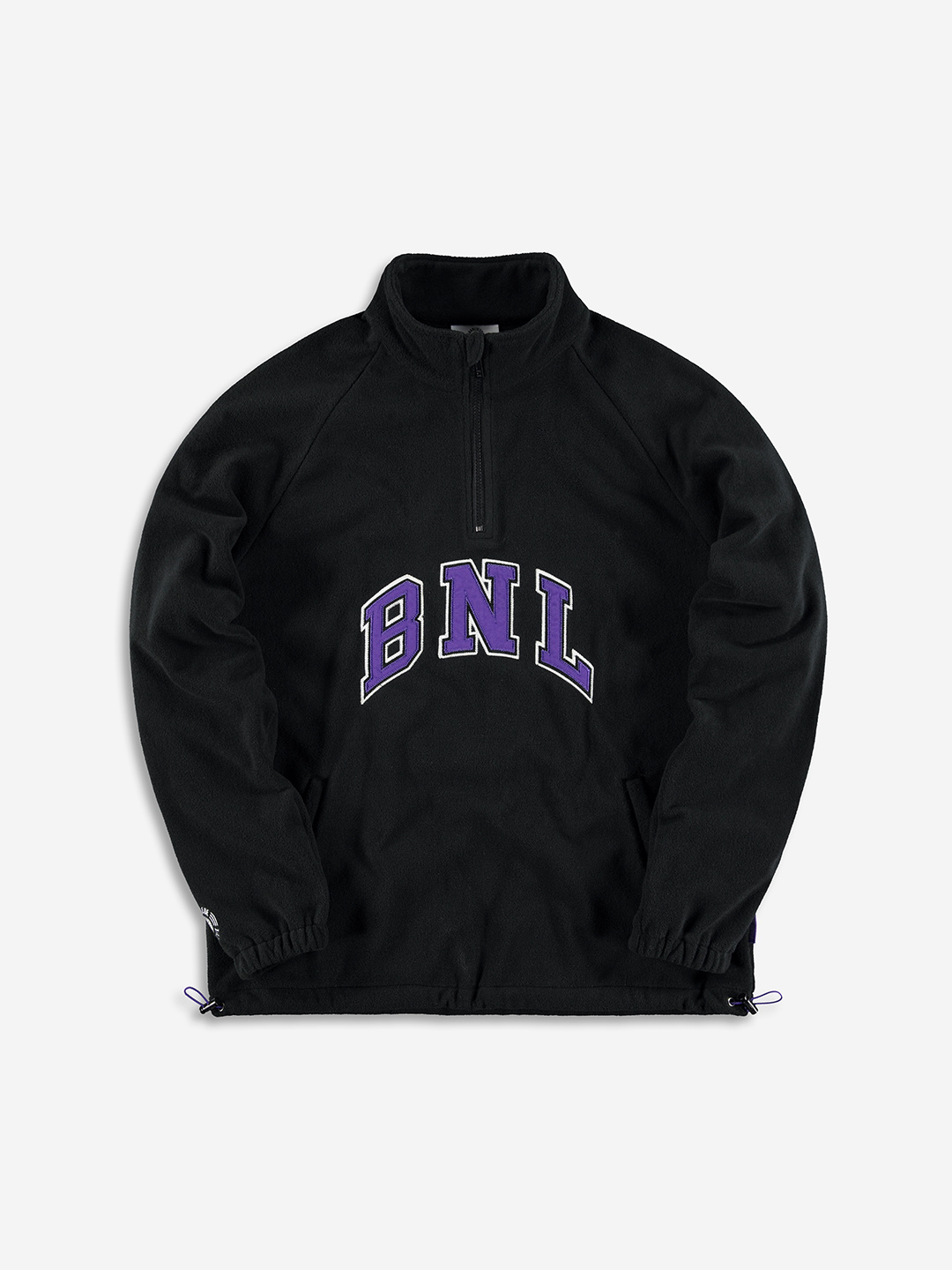 COLLEGE FLEECE HALF ZIP BLACK