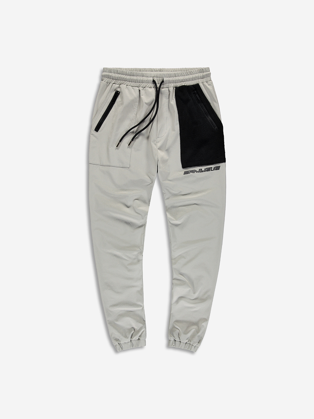 NYLON FLEECE PANTS GREY