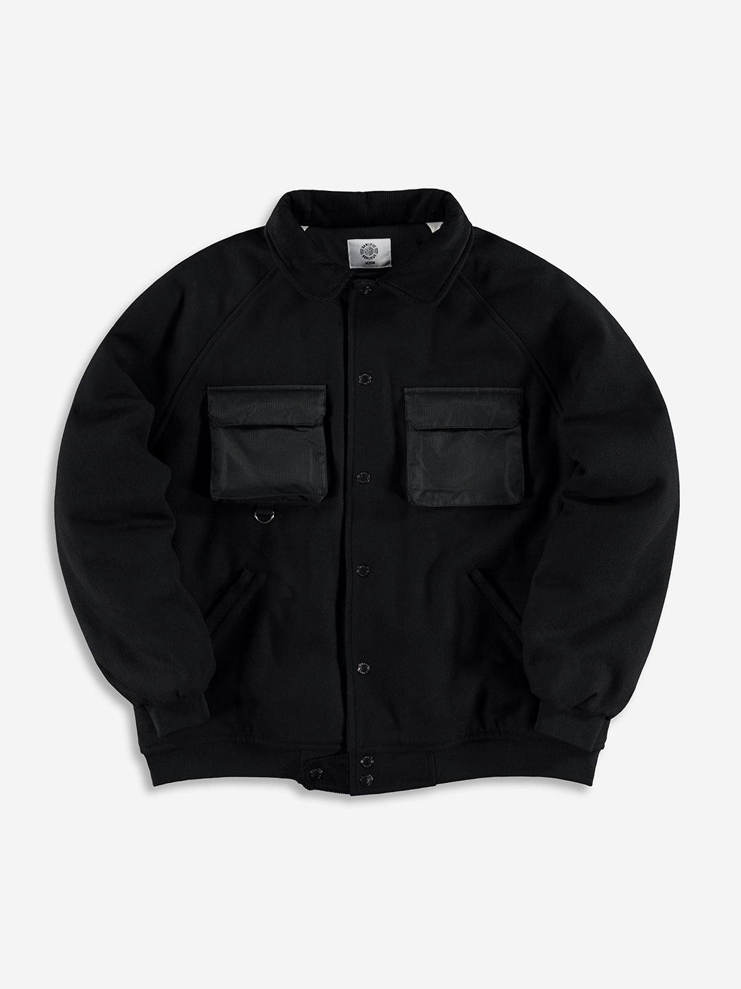 WOOL VARSITY JACKET NOIR