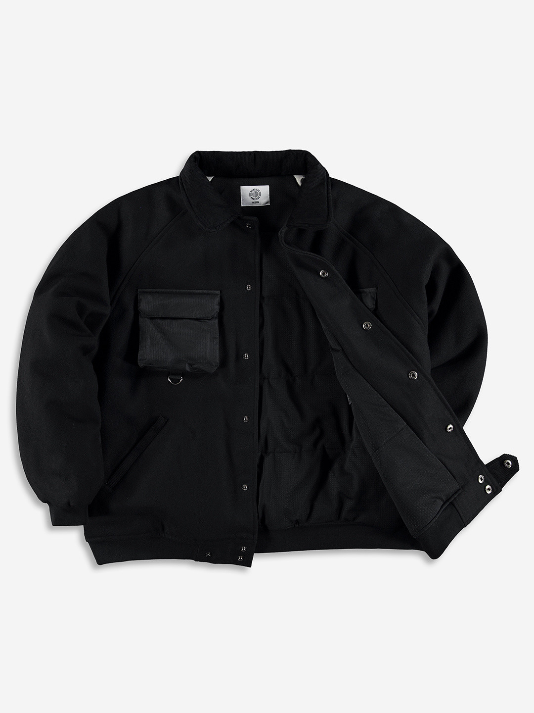 WOOL VARSITY JACKET BLACK