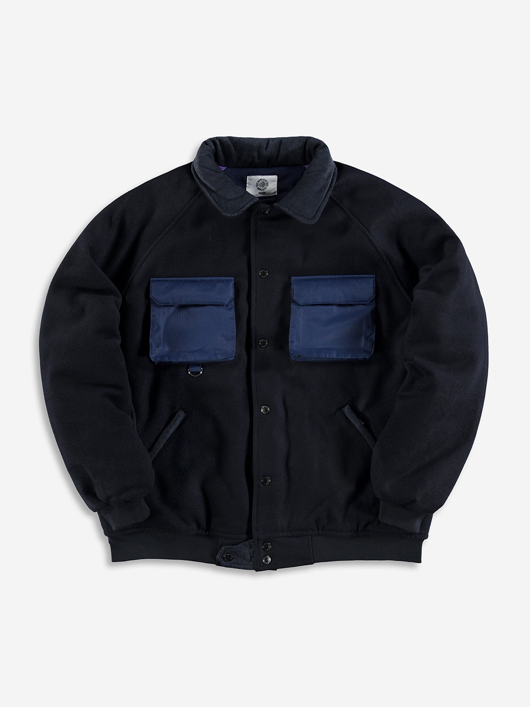 WOOL VARSITY JACKET NAVY