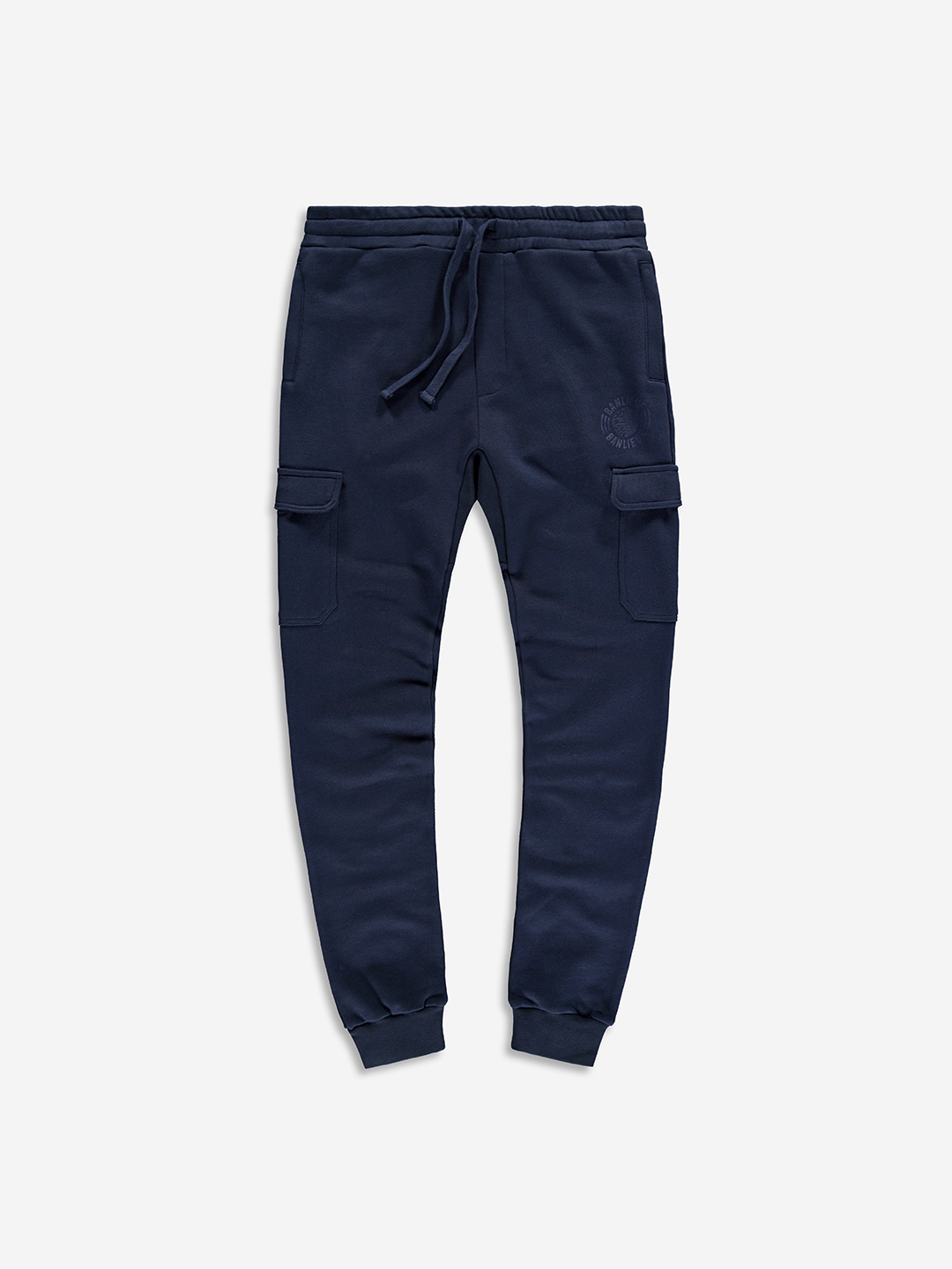 PANTALON DE SWEAT TONAL MARINE