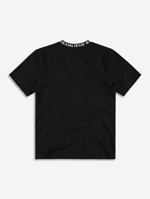 RAYMOND COLLAR T-SHIRT BLACK