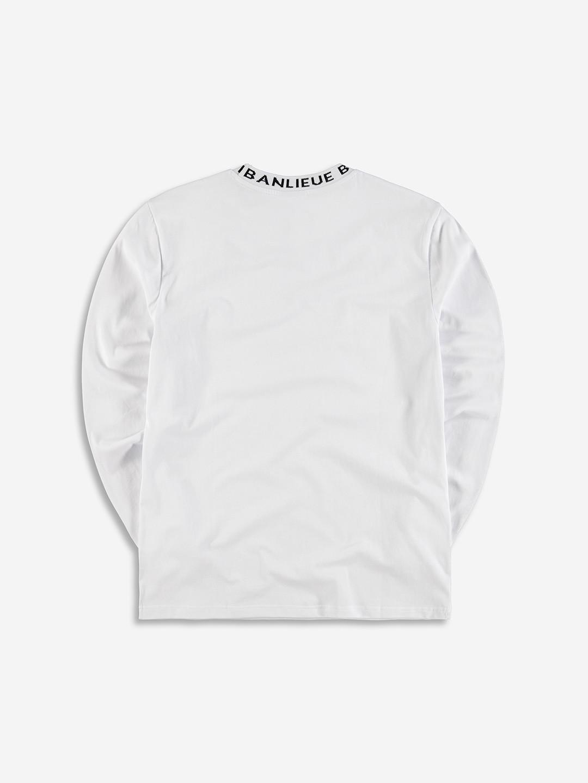 RAYMOND COLLAR LONGSLEEVE WHITE