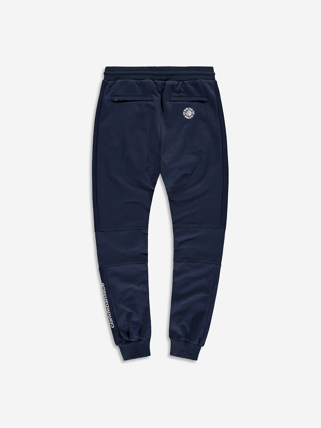 SPLIT FABRIC SWEATPANTS MARINE
