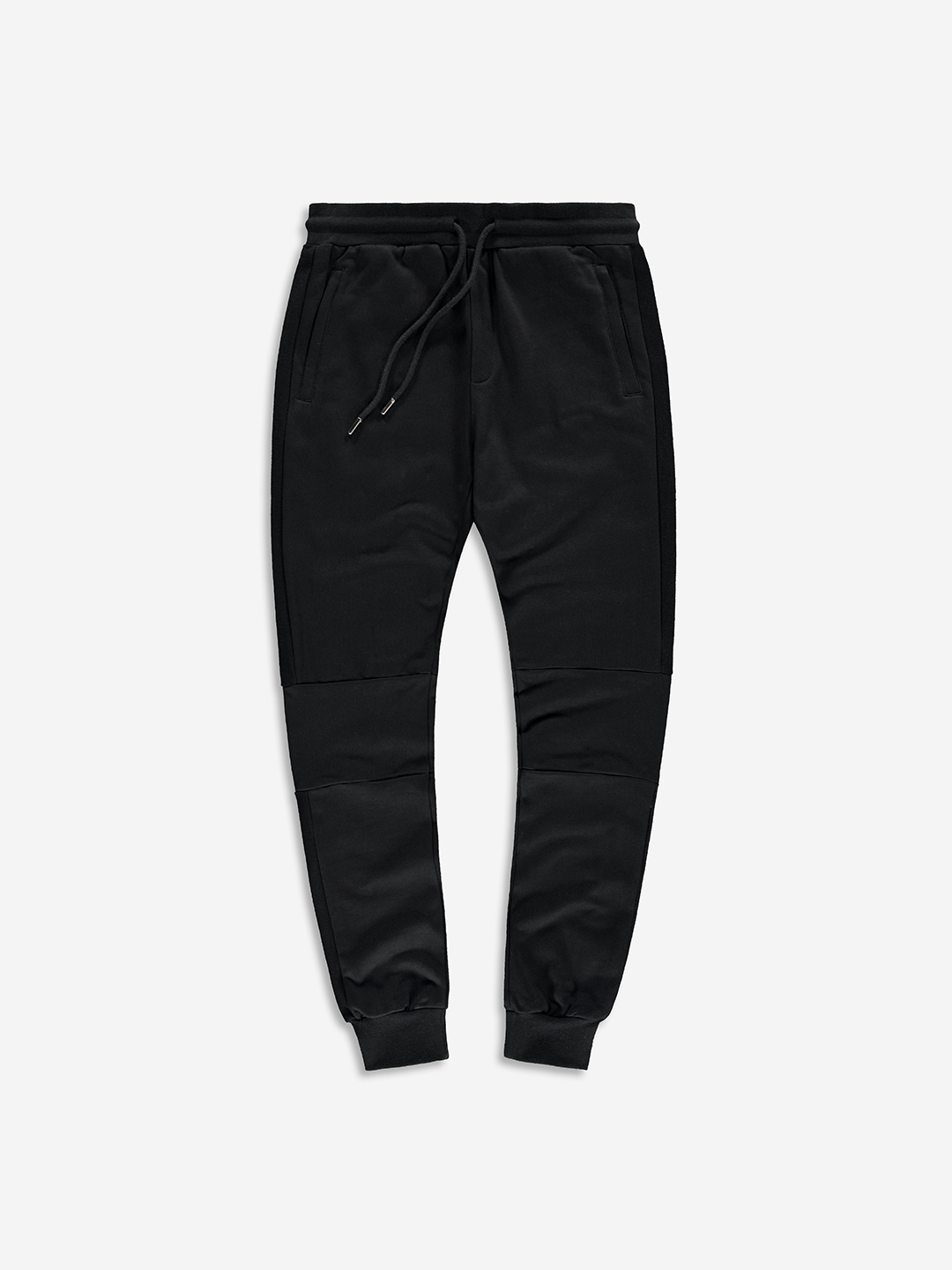 SPLIT FABRIC SWEATPANTS BLACK