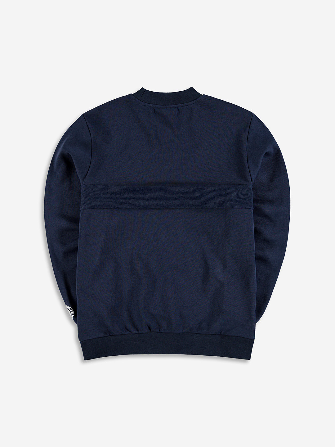 SPLIT FABRIC SWEATER NAVY
