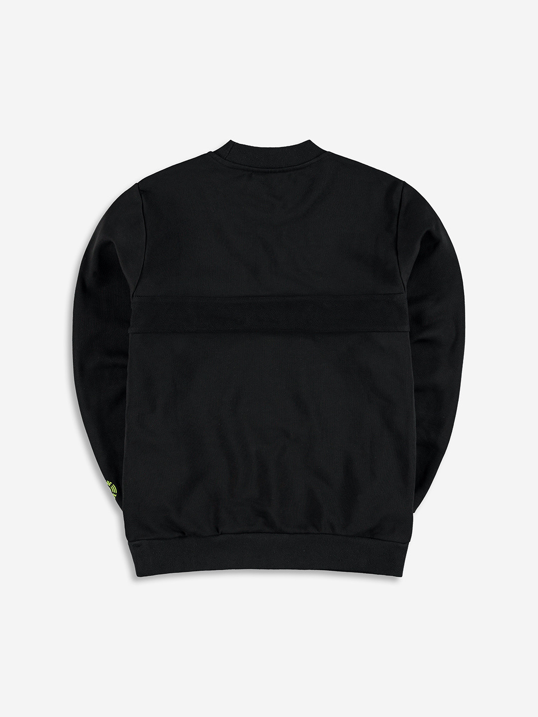 SPLIT FABRIC SWEATER BLACK