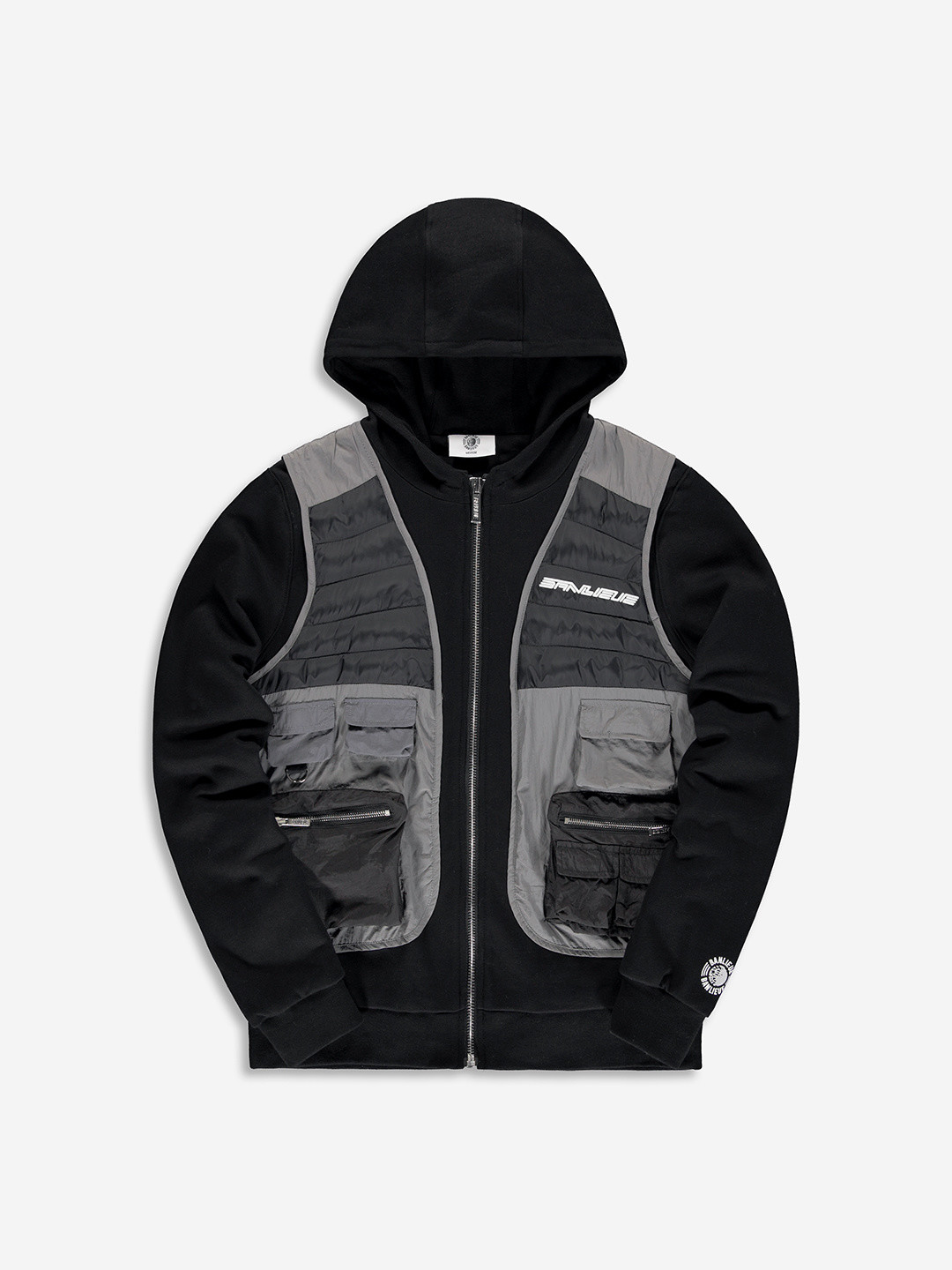 TACTICAL HOODED VEST BLACK