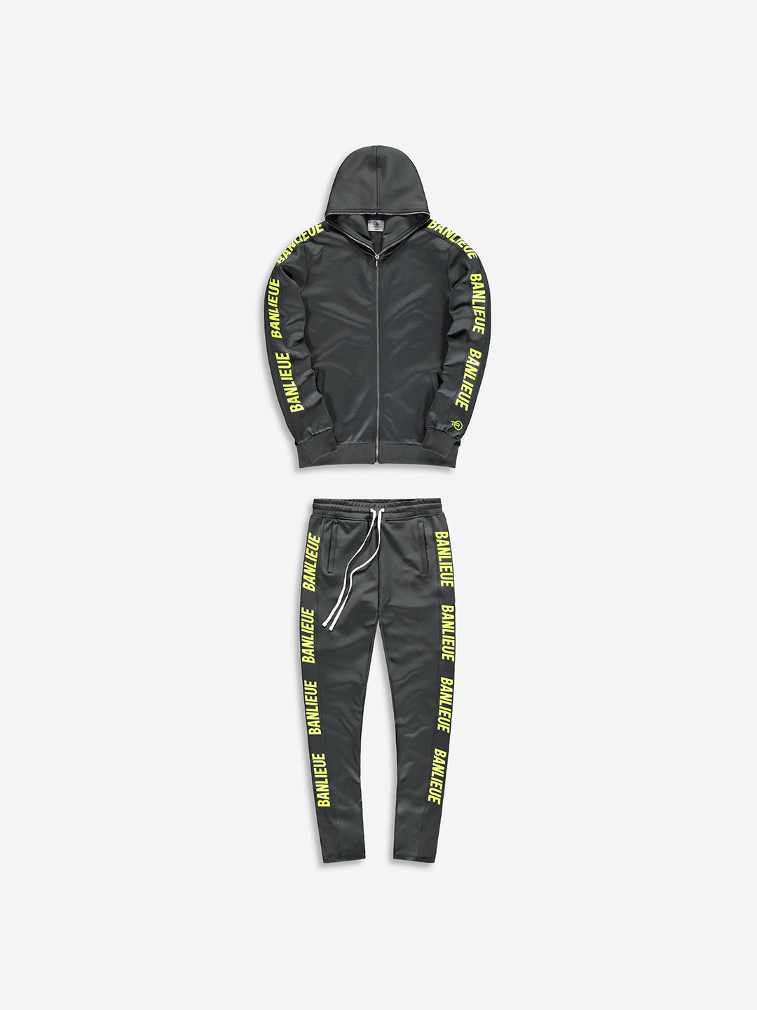 FULL ZIP TRACKSUIT GRIS/LIME