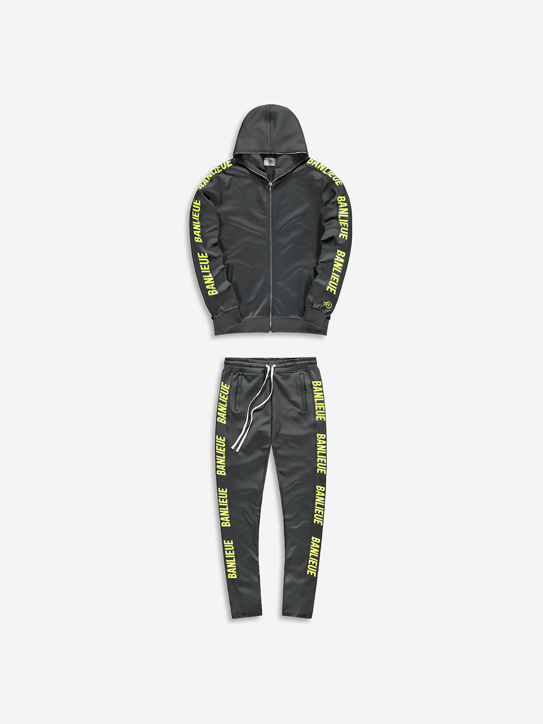 FULL ZIP TRACKSUIT GREY/LIME