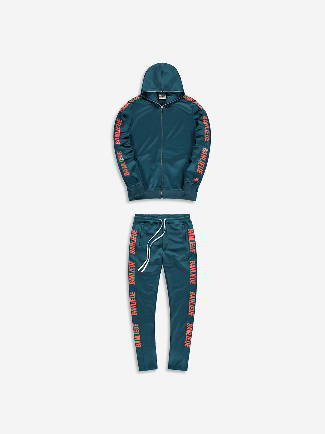 FULL ZIP TRACKSUIT EMERALD/ORANGE