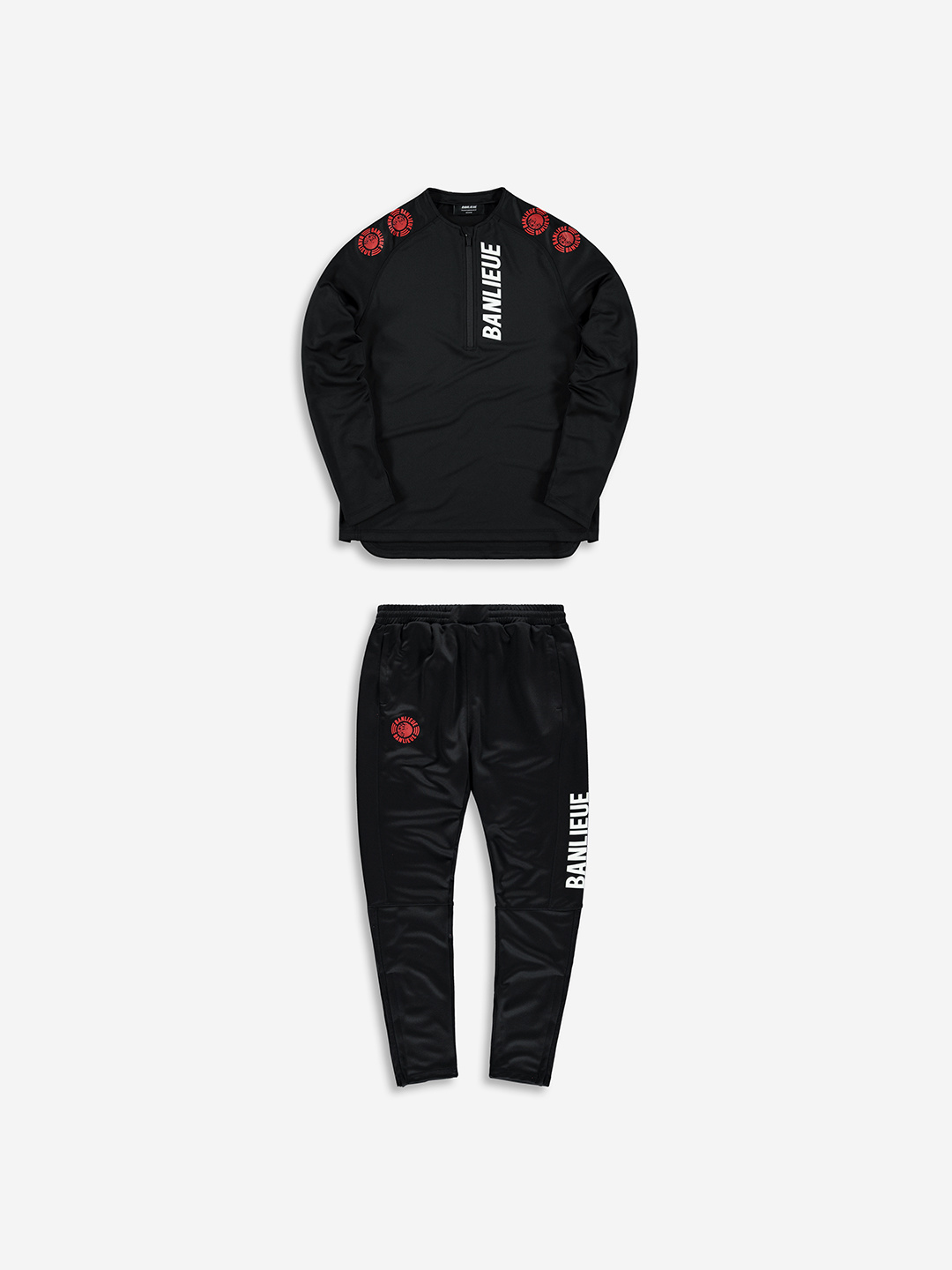 PERFORMANCE TRACKSUIT NOIR/ROUGE