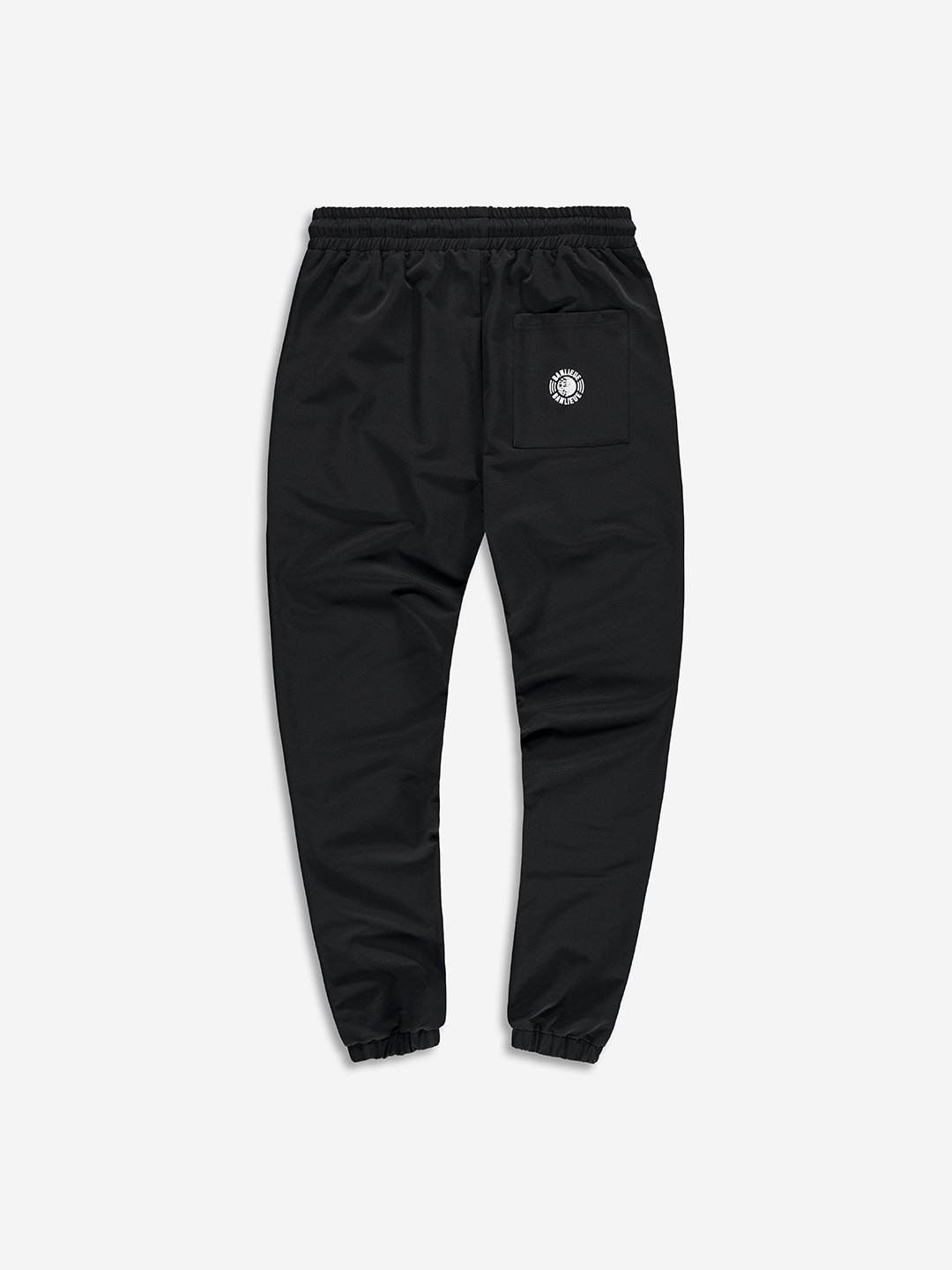 NYLON FLEECE PANTS BLACK