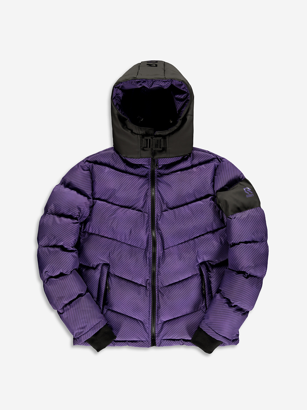 BANLIEUE X ROBEY PUFFER JACKET PURPLE
