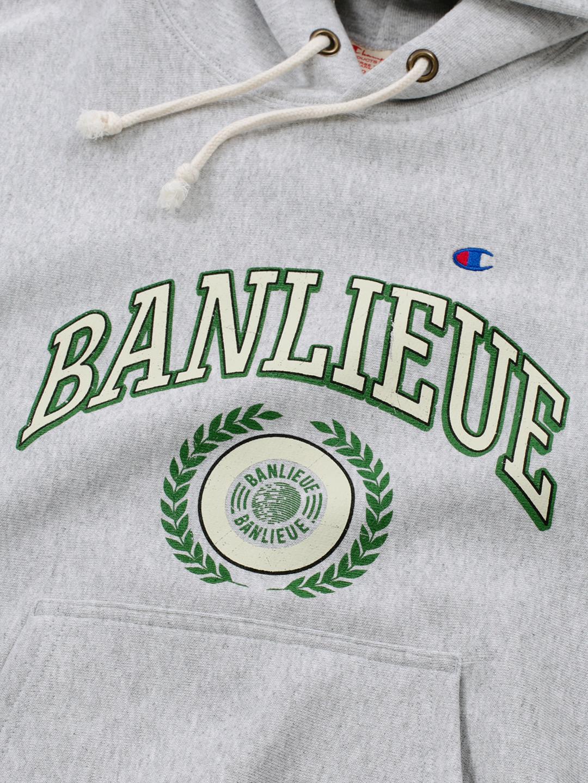 BANLIEUE X CHAMPION HOODIE GRIS