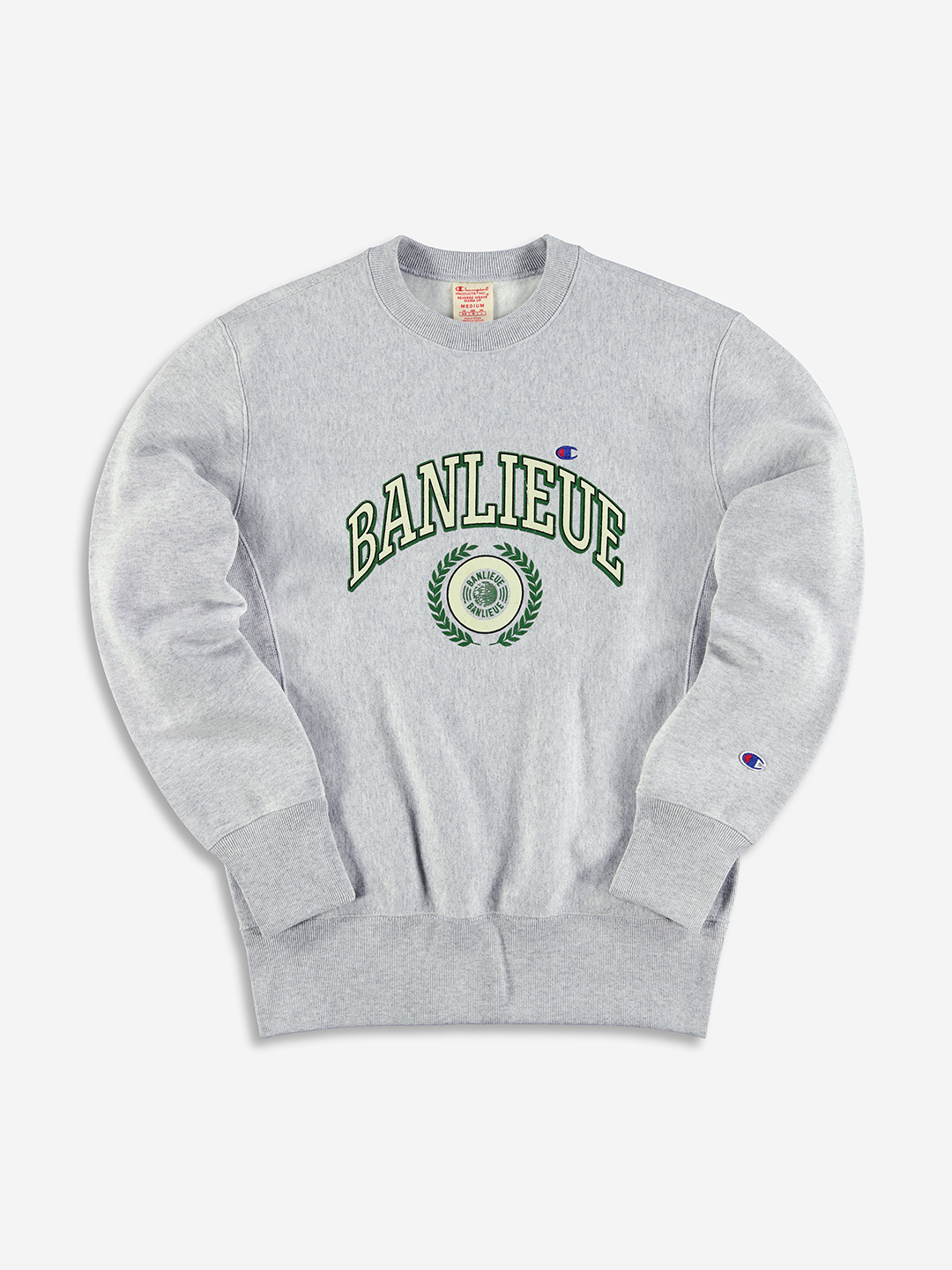 BANLIEUE X CHAMPION SWEATER GREY
