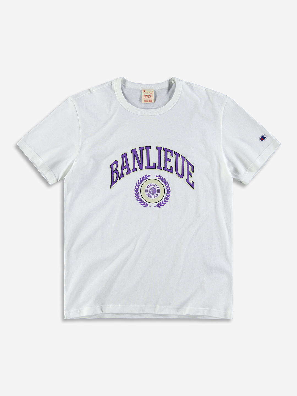 BANLIEUE X CHAMPION T-SHIRT BLANC