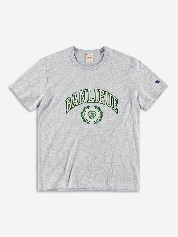 BANLIEUE X CHAMPION T-SHIRT GRIS