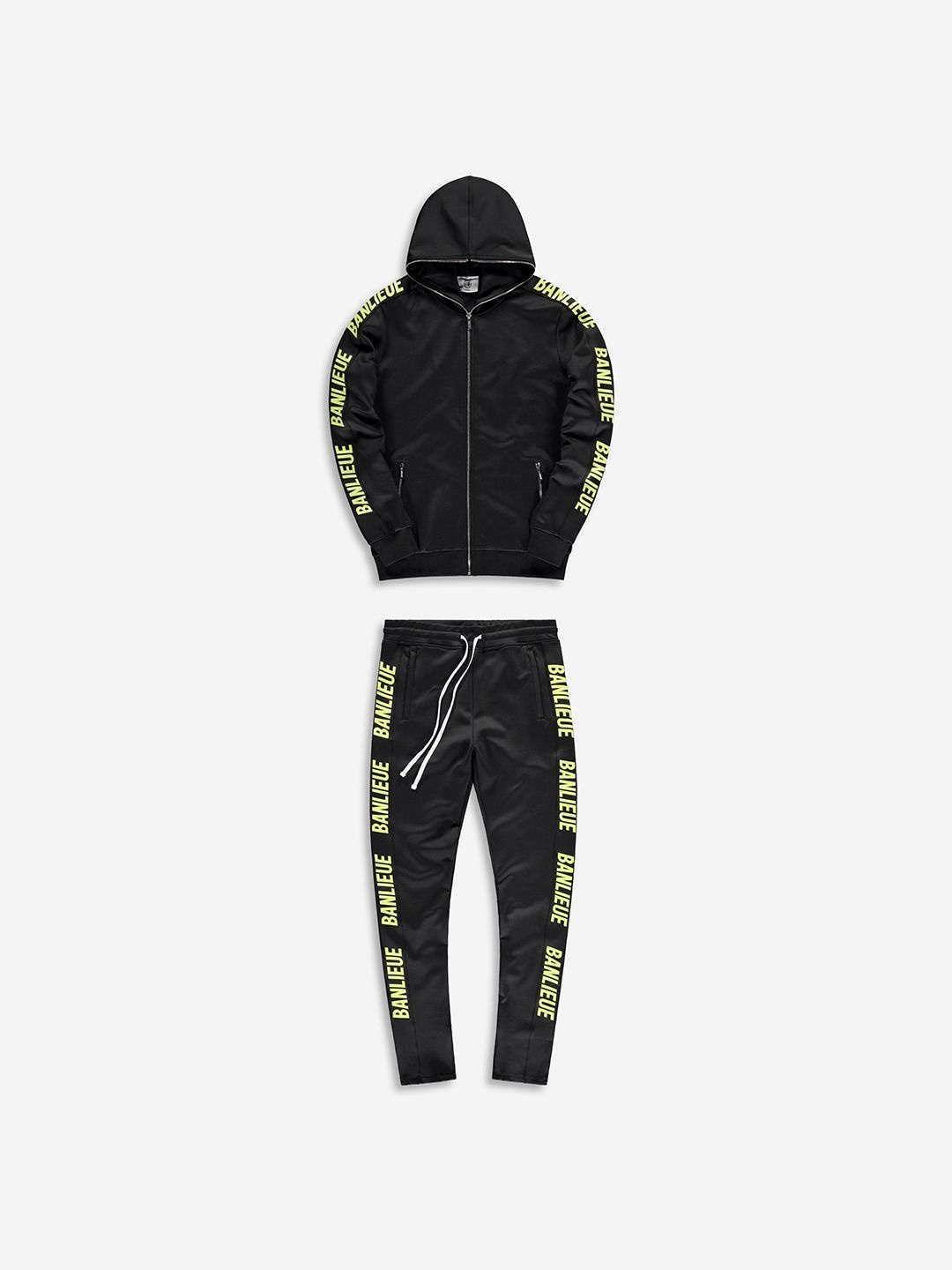 FULL ZIP TRACKSUIT BLACK/LIME