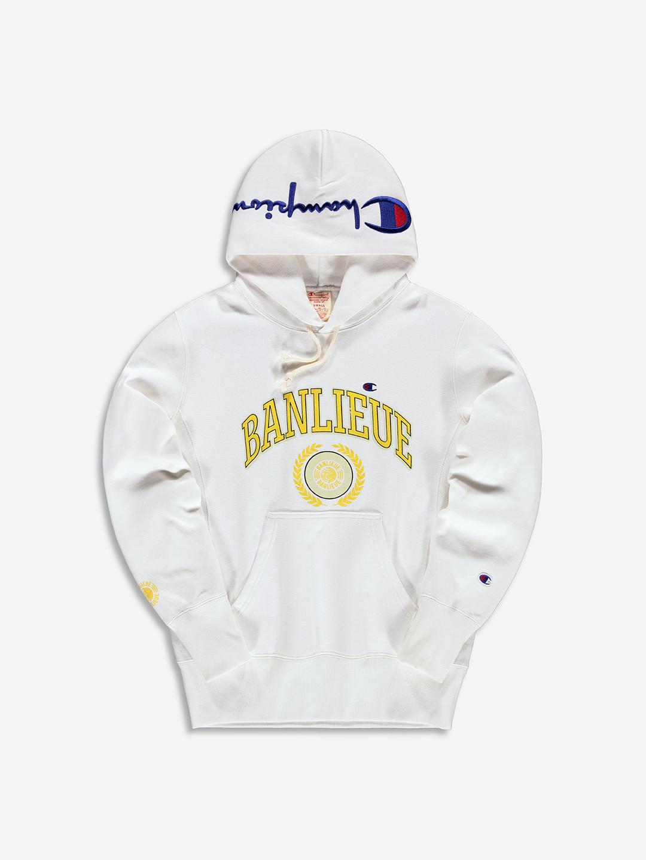 BANLIEUE X CHAMPION HOODIE WHITE