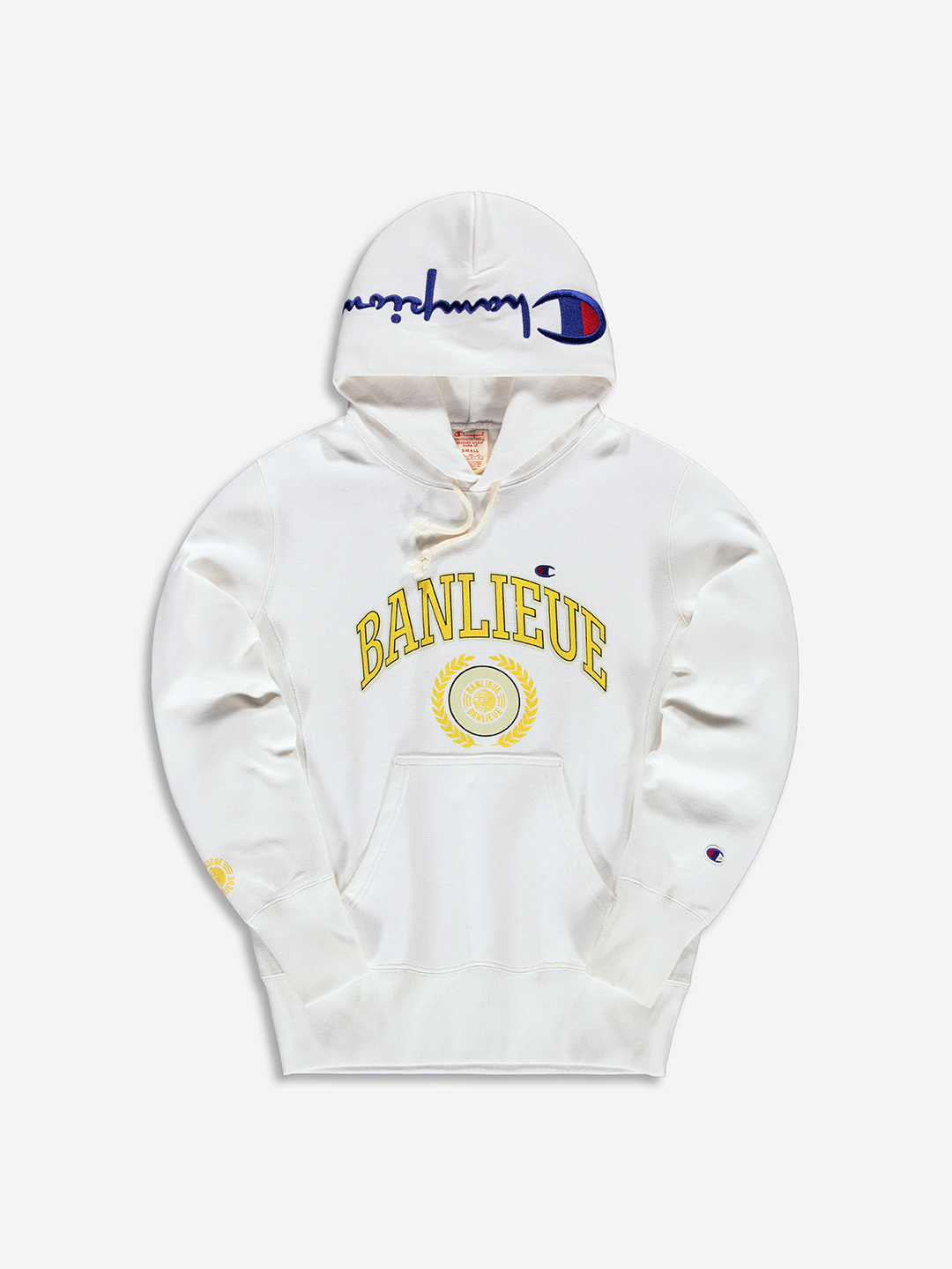 BANLIEUE X CHAMPION HOODIE WHITE