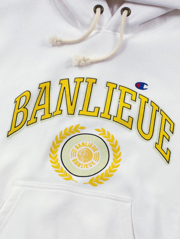 BANLIEUE X CHAMPION HOODIE BLANC