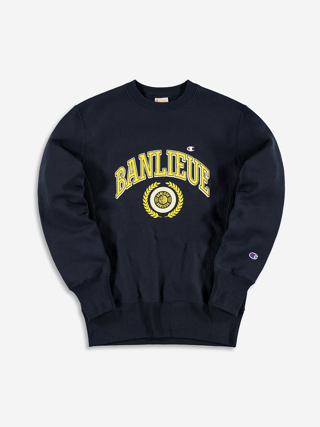 BANLIEUE X CHAMPION SWEATER NAVY