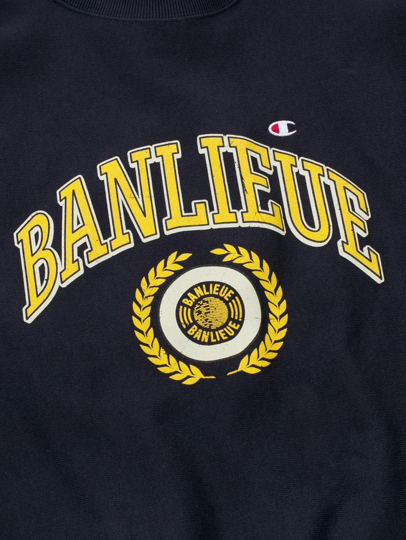 BANLIEUE X CHAMPION SWEATER MARINE