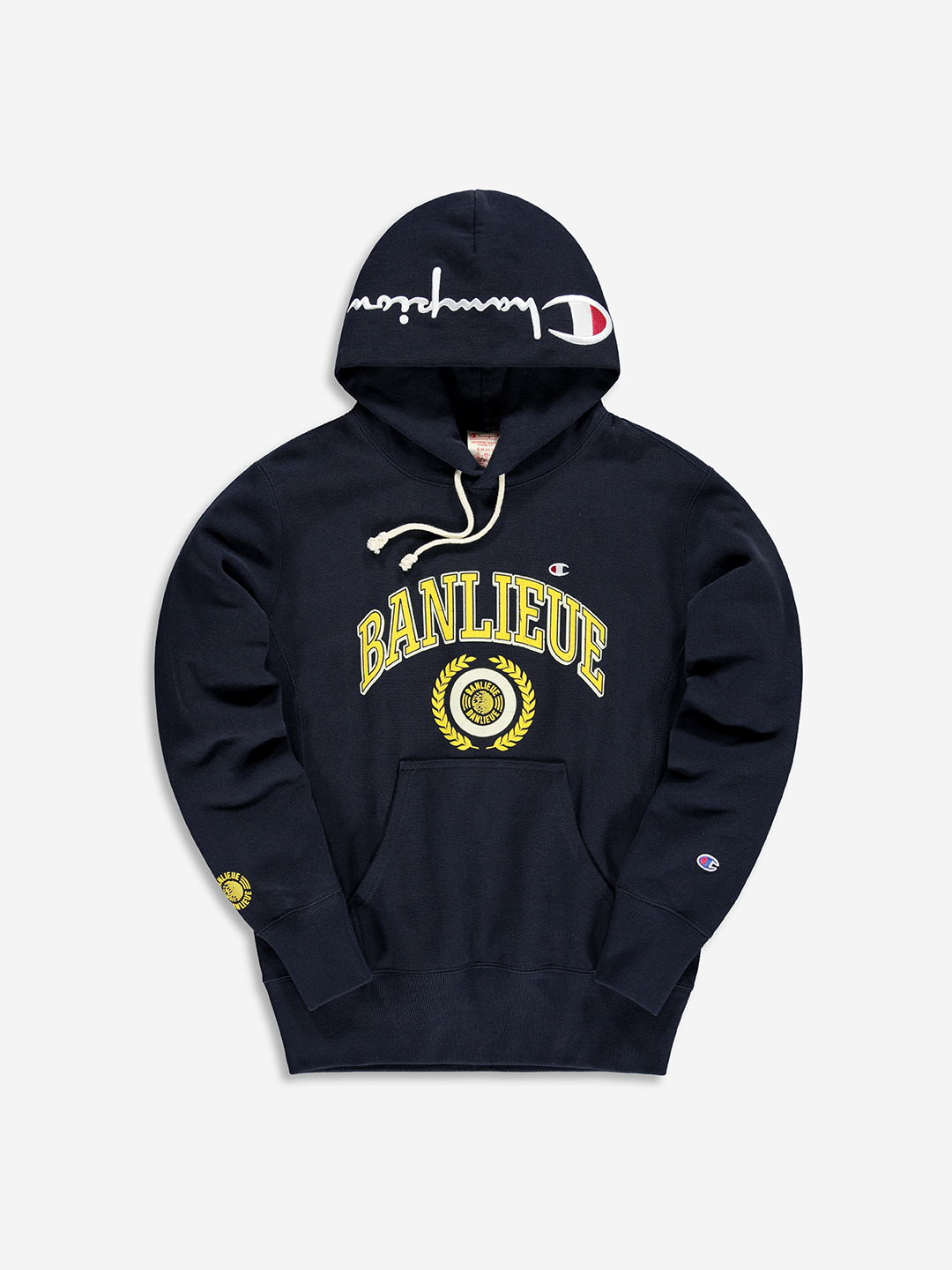 BANLIEUE X CHAMPION HOODIE NAVY