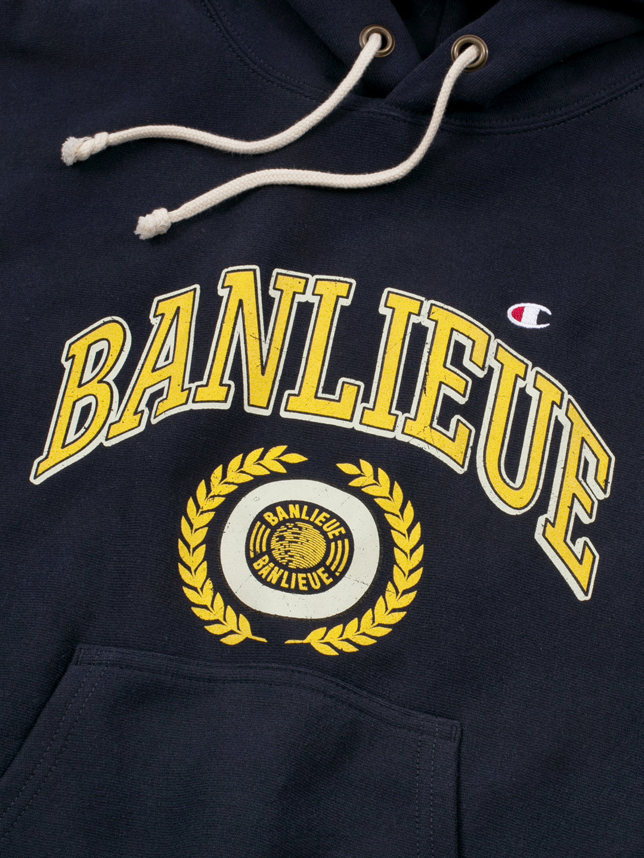 BANLIEUE X CHAMPION HOODIE MARINE