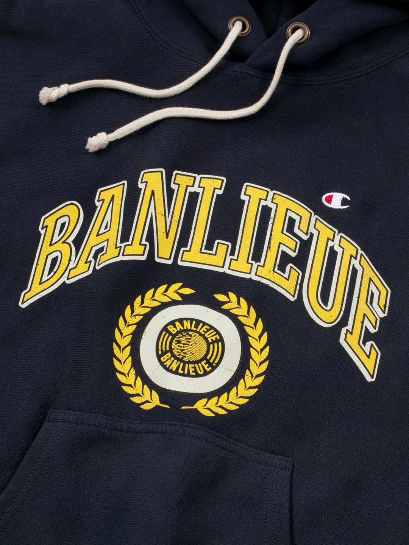 BANLIEUE X CHAMPION HOODIE NAVY