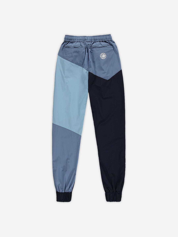 NYLON COLORBLOCKED PANTS MARINE