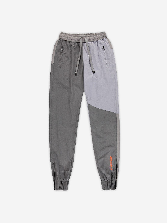 NYLON COLORBLOCKED PANTS GREY