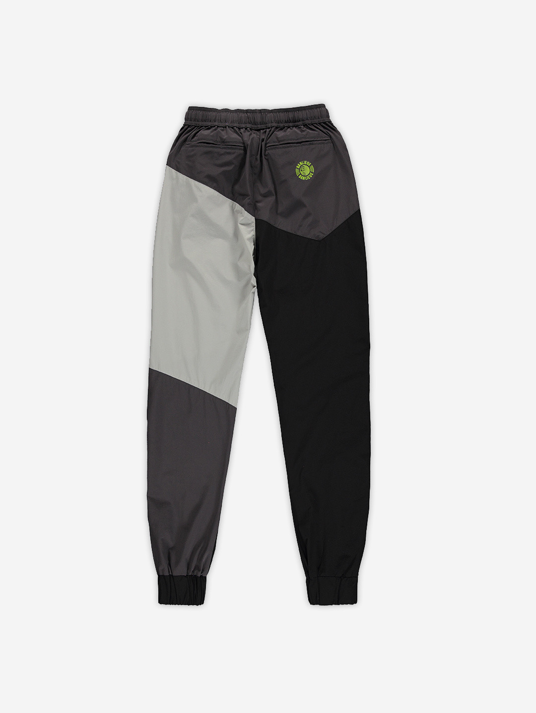 NYLON COLORBLOCKED PANTS BLACK