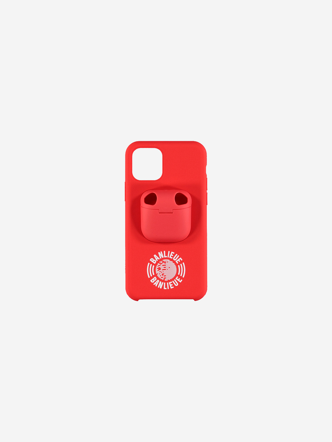 IPHONE AIRPOD CASE ROUGE