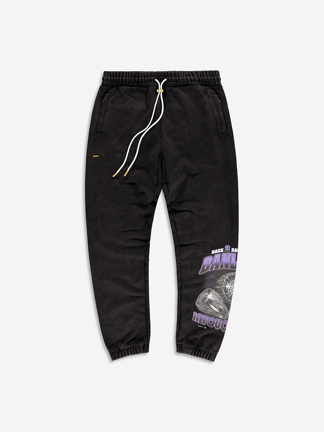 THREE PEAT SWEATPANTS VINTAGE BLACK