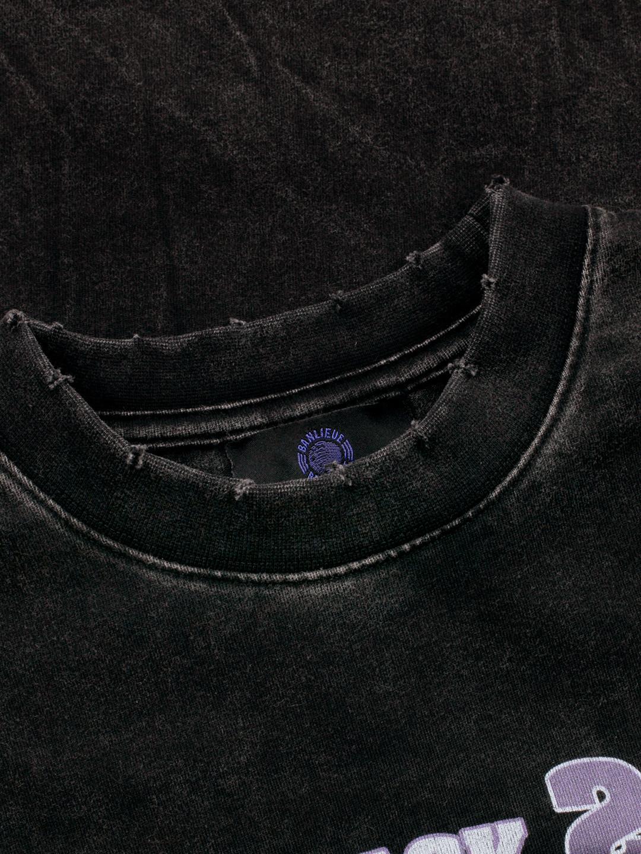 THREE PEAT T-SHIRT VINTAGE BLACK