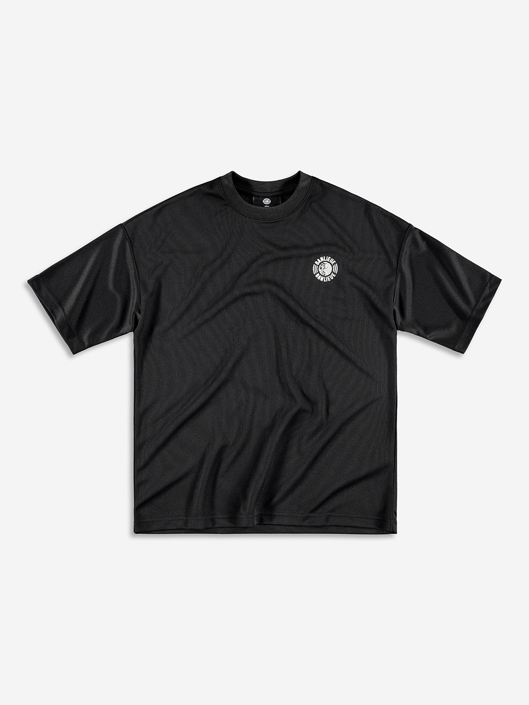 GLOBAL MESH T-SHIRT BLACK