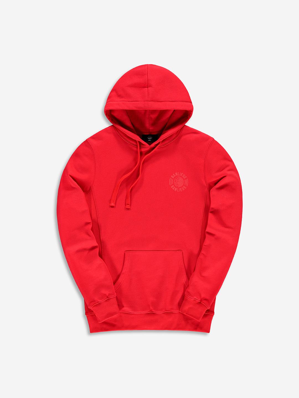 TONAL HOODIE RED