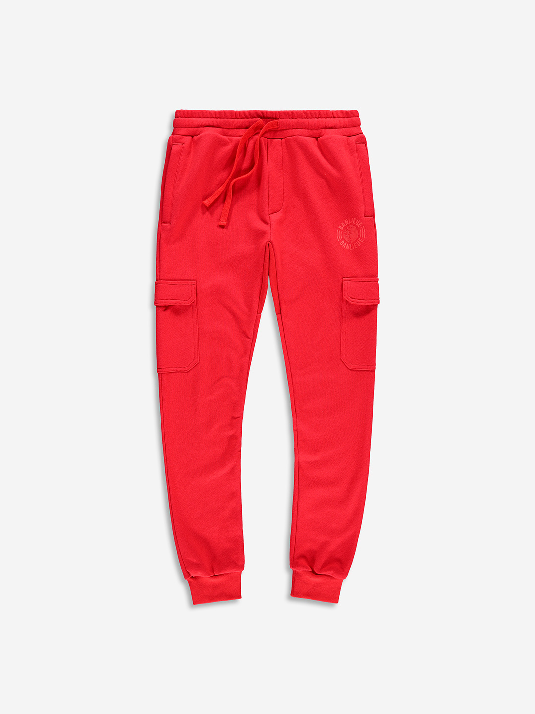 TONAL CARGO SWEATPANTS RED