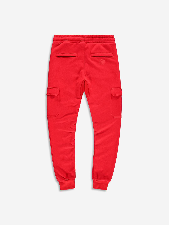 TONAL CARGO SWEATPANTS RED