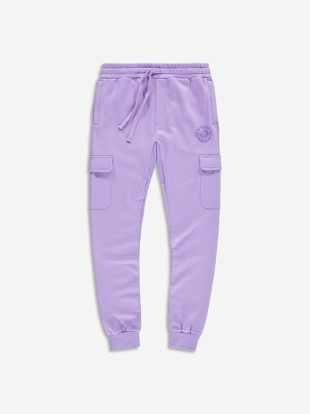TONAL CARGO SWEATPANTS PURPLE