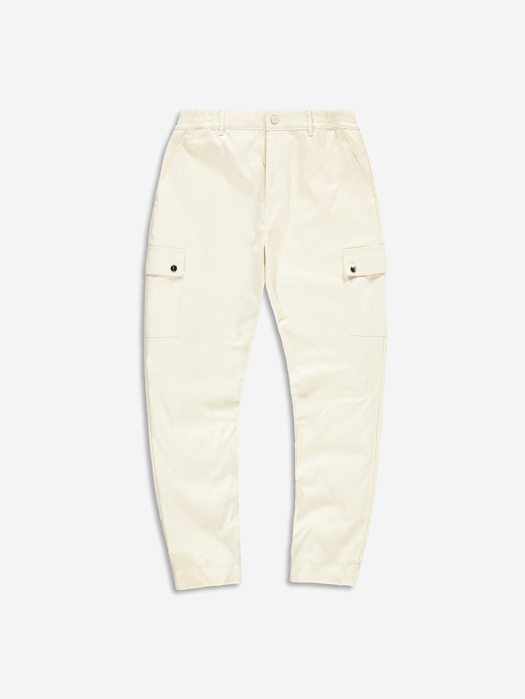 TWILL CARGO PANTS CREAM WHITE