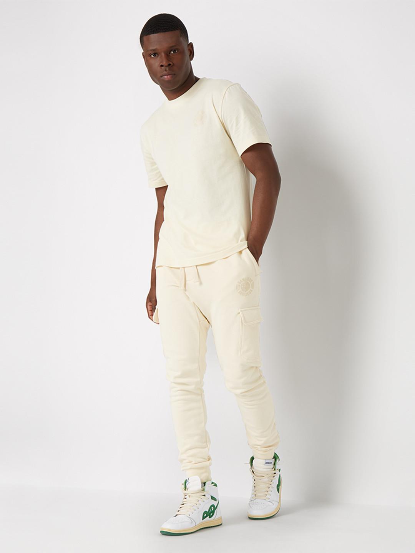 TONAL T-SHIRT CREAM WHITE