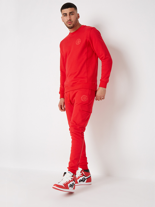 TONAL SWEATER RED
