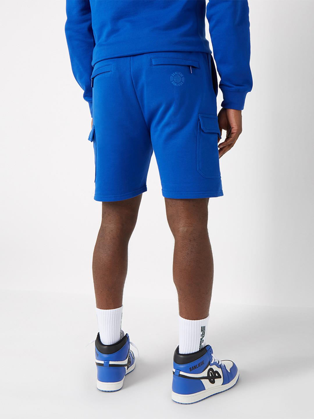 TONAL CARGO SHORTS ROYAL BLEU
