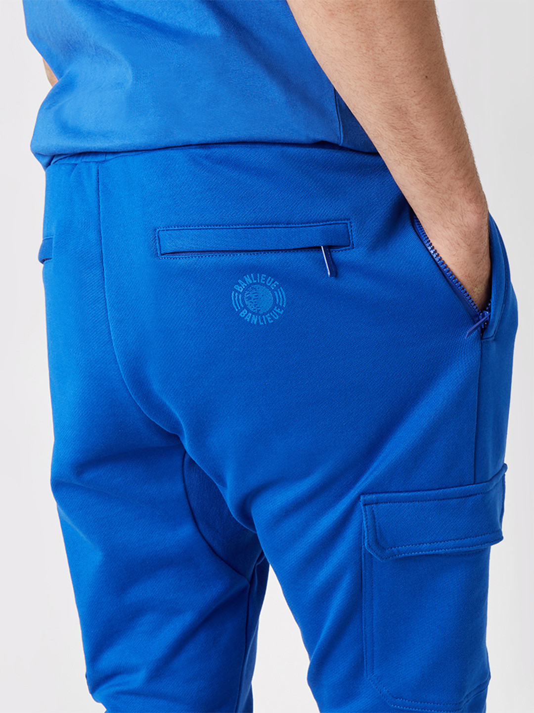 TONAL CARGO SWEATPANTS ROYAL BLUE