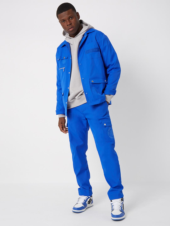 TWILL CARGO PANTS ROYAL BLUE